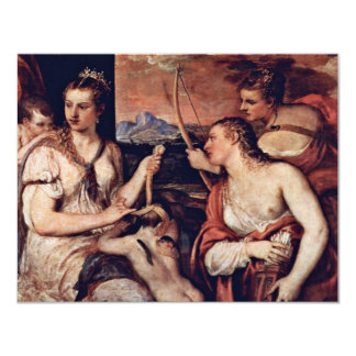 Venus Combines Amor Eyes By Tizian 11 Cm X 14 Cm Invitation Card