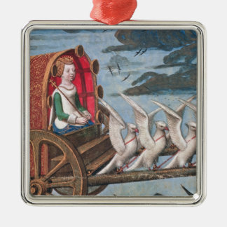 Venus comes to the rescue on a chariot drawn christmas ornament