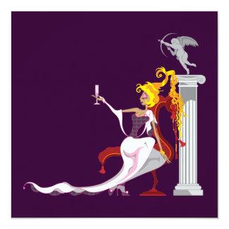 """Venus & Eros Invitations 5.25"""" Square Invitation Card"""