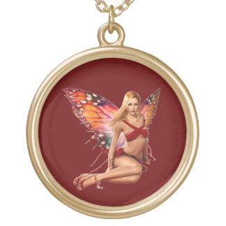 Venus Fairy Round Pendant Necklace