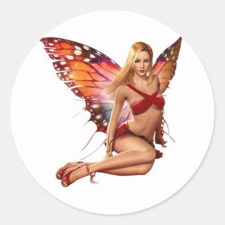 Venus Fairy Round Sticker
