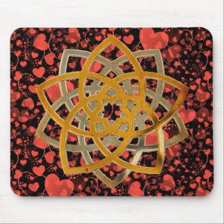 Venus Flower Duo - antique metal | heart pattern Mouse Pad