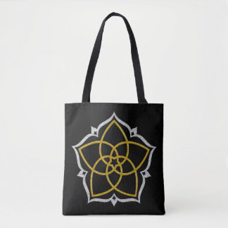 Venus Flower Lotus gold silver Tote Bag