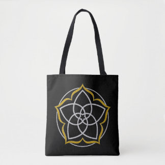 Venus Flower Lotus silver gold Tote Bag