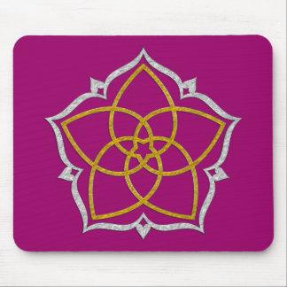 VENUS FLOWER / Venusblume Lotus GOLD SILVER Mouse Pad