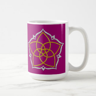 VENUS FLOWER / Venusblume Lotus GOLD SILVER Coffee Mugs