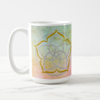 VENUS FLOWER / Venusblume Lotus SILVER GOLD Coffee Mug