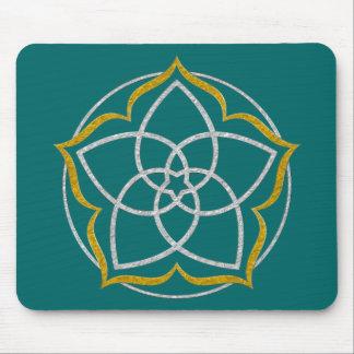 VENUS FLOWER / Venusblume Lotus SILVER GOLD Mouse Pad