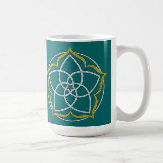 VENUS FLOWER / Venusblume Lotus SILVER GOLD Basic White Mug