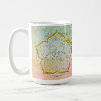 VENUS FLOWER / Venusblume Lotus SILVER GOLD Classic White Coffee Mug