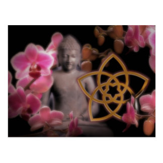 VENUS FLOWER with Buddha & orchid Postcards
