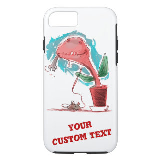 venus flytrap and kitty funny cartoon iPhone 8/7 case
