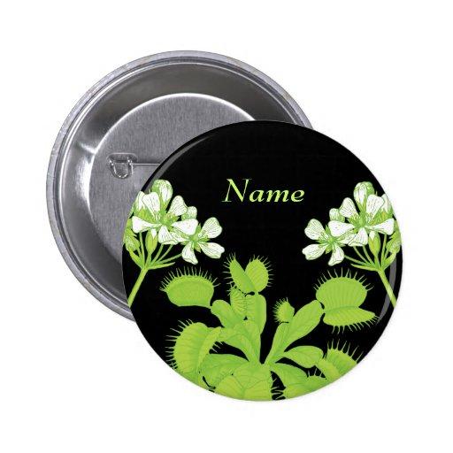 Venus Flytrap Name Tag Pinback Button