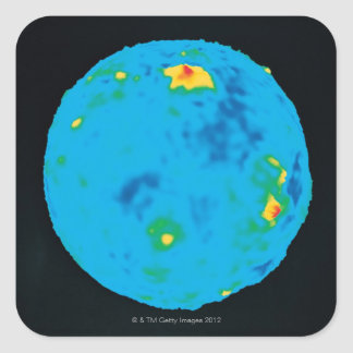 Venus, High Resolution Gravity Data Square Sticker