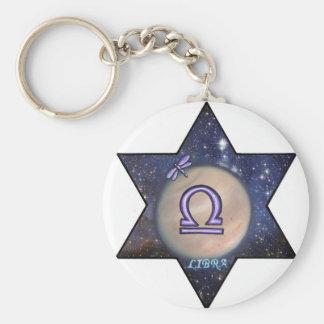 Venus in Libra, star sign. Basic Round Button Key Ring
