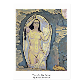 Venus In The Grotto By Moser Koloman Postcard