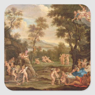 Venus in Vulcan's Forge, 18th century Square Sticker