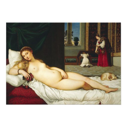 Venus of Urbino by Titian Personalized Announcements