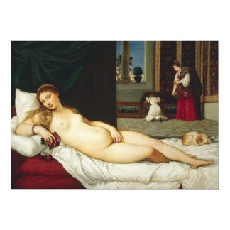Venus of Urbino by Titian 13 Cm X 18 Cm Invitation Card