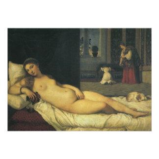 Venus of Urbino by Titian Renaissance Art Personalized Invites