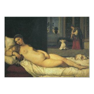 Venus of Urbino by Titian, Renaissance Art 13 Cm X 18 Cm Invitation Card