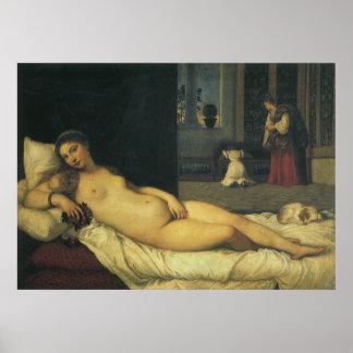 Venus of Urbino by Titian, Renaissance Art Poster