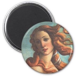 Venus on the Half-Shell (detail) 6 Cm Round Magnet