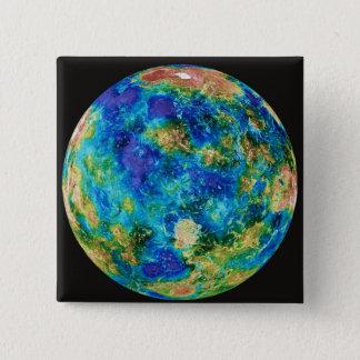 Venus Under False Color 15 Cm Square Badge