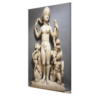 Venus with putti, a triton and a dolphin, Roman, 4 Gallery Wrap Canvas