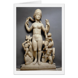 Venus with putti, a triton and a dolphin, Roman, 4 Greeting Card