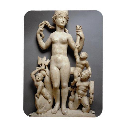 Venus with putti, a triton and a dolphin, Roman, 4 Magnet