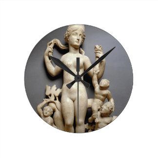 Venus with putti, a triton and a dolphin, Roman, 4 Round Clock