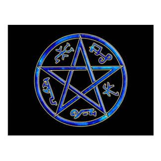 ver 01 - Solomon's Devil's/Demon Trap - Black Postcard
