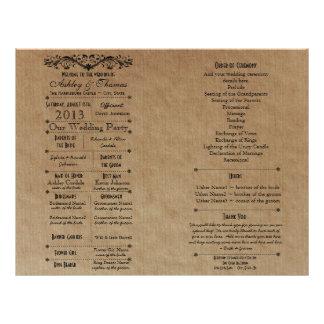 Ver 3 Custom Wedding Program Template for Fan 21.5 Cm X 28 Cm Flyer