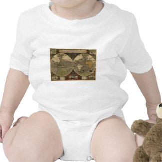 Vera Totius Expeditionis Map Baby Bodysuits
