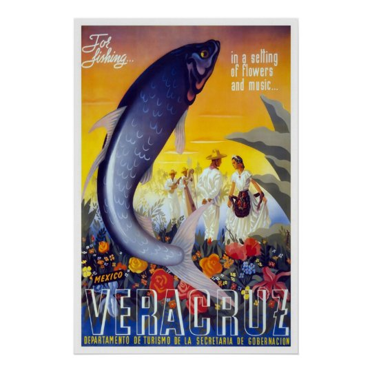 Veracruz For Fishing Poster