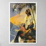 Veracruz Mexico Vintage Travel Poster