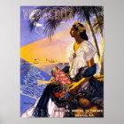 Veracruz Mexico Vintage Travel Poster Restored