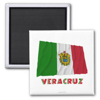 Veracruz Waving Unofficial Flag Square Magnet