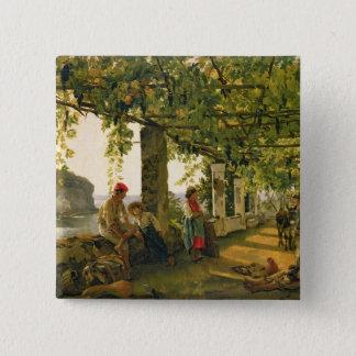 Verandah with twisted vines, 1828 15 cm square badge