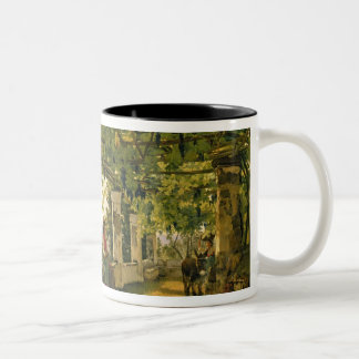 Verandah with twisted vines, 1828 Two-Tone coffee mug