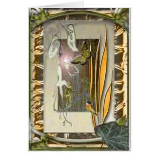 verbena garden with fuchsia card