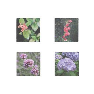 Verbena Hydrangea Penstemon Flower Marble Magnets