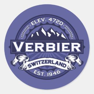 Verbier Logo Midnight Classic Round Sticker