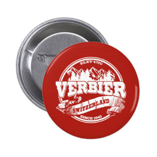 Verbier Old Circle Red 6 Cm Round Badge