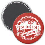 Verbier Old Circle Red 7.5 Cm Round Magnet