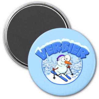 Verbier Snowman 7.5 Cm Round Magnet