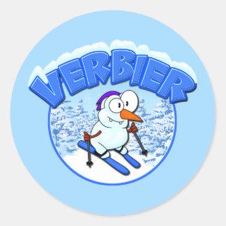 Verbier Snowman Round Stickers
