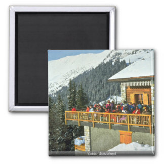 Verbier, Switzerland Square Magnet