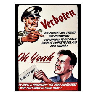 Verboten, Oh Yeah, Suggestion Postcard